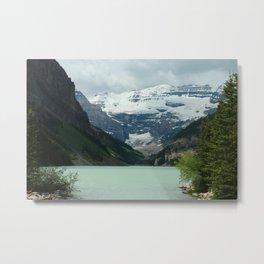 Peaceful Lake Louise Metal Print