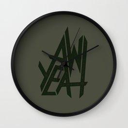 AW YEAH Wall Clock