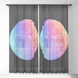Stay Wild Moon Child v2 Sheer Curtain
