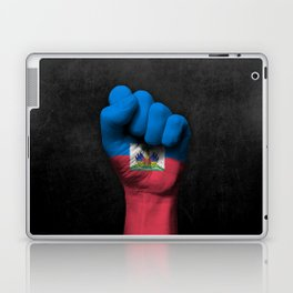 Haitian Flag on a Raised Clenched Fist Laptop & iPad Skin
