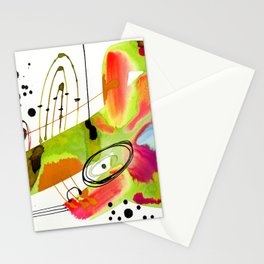 Abstract Serenade 4a by Kathy Morton Stanion Stationery Cards