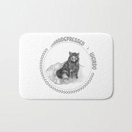 Depressed Weirdo Fox Bath Mat