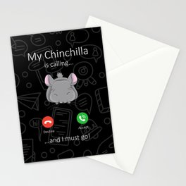 My Chinchilla is calling Stationery Cards