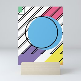 90s Retro Colored Shapes v2 Mini Art Print