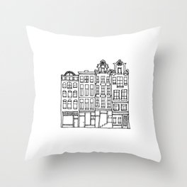 canal houses one Throw Pillow