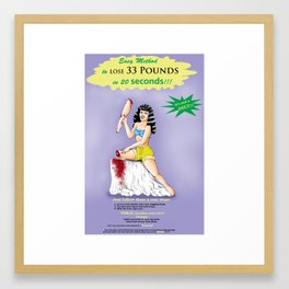 PIN-UP DIET LEG Framed Art Print