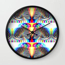 zoe the zebra 2 Wall Clock