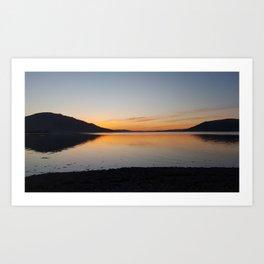 The Lough Art Print