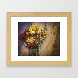 Rustic Flowers (Color) Framed Art Print