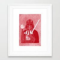 darth vader Framed Art Prints featuring Darth Vader by David Penela