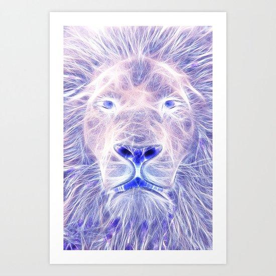 Electric Lion Art Print