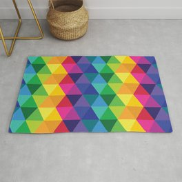 Geometric Galaxy - All the Colors of the Rainbow Rug