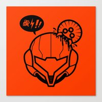 samus Canvas Prints featuring Samus by La Manette