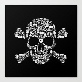 Skull Welder Equipment Canvas Print