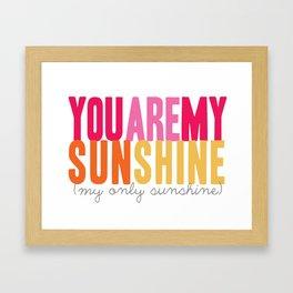 {sunshine-pink} Framed Art Print