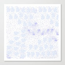 Blue circle on white Canvas Print