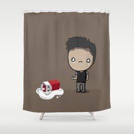 Spilled Milk Shower Curtain