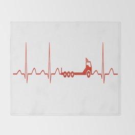 TRUCK HEARTBEAT Throw Blanket