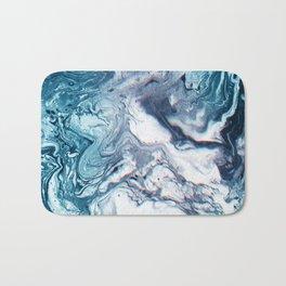 Real Marble Glitch Pattern Bath Mat