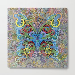 Clockwork Butterfly No. 11 Metal Print