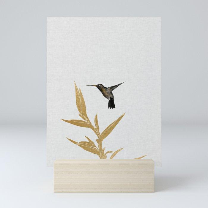 Hummingbird & Flower II Mini Art Print