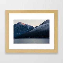 Last Light at Wallowa Lake Oregon Framed Art Print