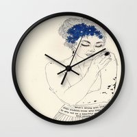 murakami Wall Clocks featuring You Are An Empty Vessel by Kaethe Butcher
