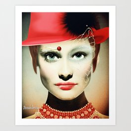 Wear your hat with pride Art Print