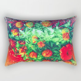 Intense Flowers Rectangular Pillow