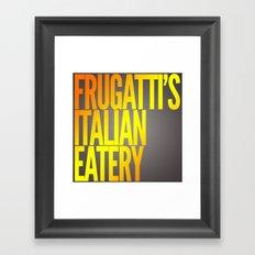 Frugatti's shirt Framed Art Print