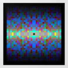 Momo pixel Art Print