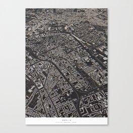 Berlin city map Canvas Print