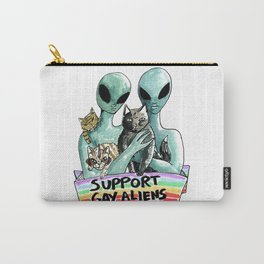 support gay aliens Carry-All Pouch