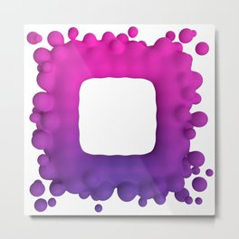 Abstract 3d render of metaball pink and purple art Metal Print