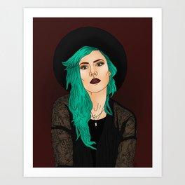 Halsey Illustration Art Print