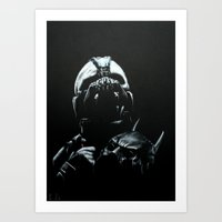bane Art Prints featuring Bane by Vanessa Leach