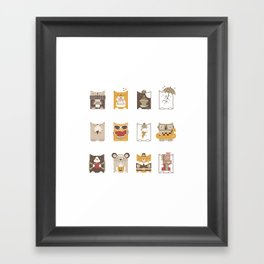 Cat of the Month Club (Color) Framed Art Print