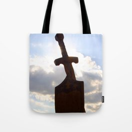 Sword and Shield Tote Bag