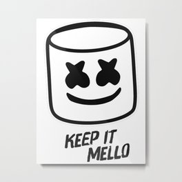 Marshmello - Keep it Mello Metal Print
