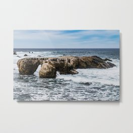 Rocks and Waves Metal Print