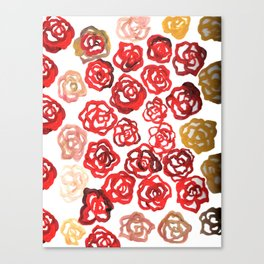 Field of Roses Canvas Print