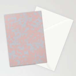 Soft Pink & Gray Floral Silhouette Pattern - Broken but Flourishing Stationery Cards