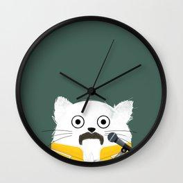 Cat Freddie Wall Clock