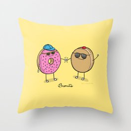 Bronuts Throw Pillow
