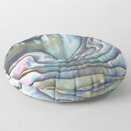 Shimmery Pastel Abalone Shell Floor Pillow