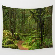 The Deep Woodland  Path... Wall Tapestry
