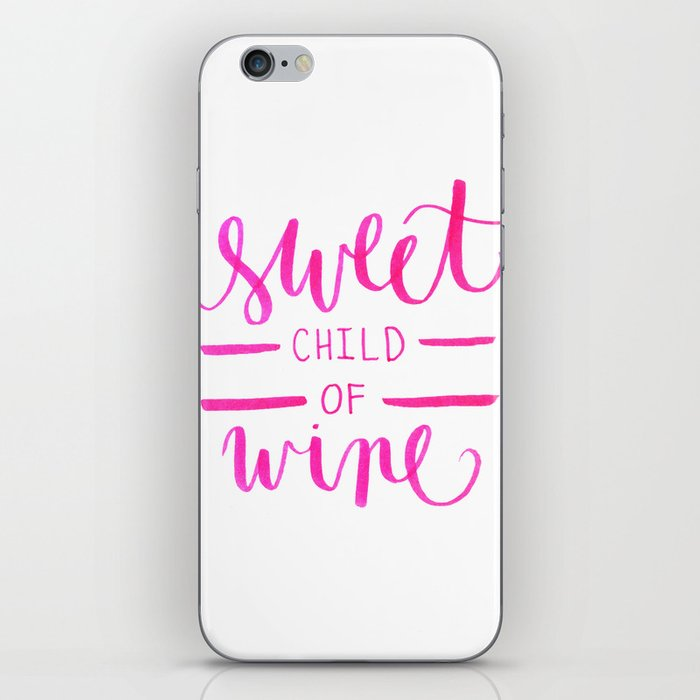 Sweet Child Of Wine iPhone Skin