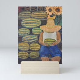 Watermelon Lady Mini Art Print