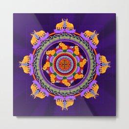 The Lu Mandala; Prosperity & Success Metal Print