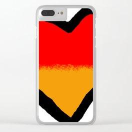 German Heart Clear iPhone Case